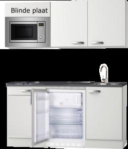 keukenblok 150cm met koelkast, wandkasten en magnetron RAI-9080