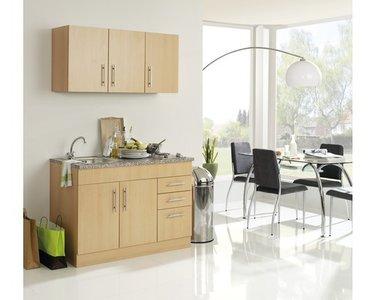 Mini Keuken Toronto Eiken 120 cm x 60 cm incl. e-kookplaat HRN-4399