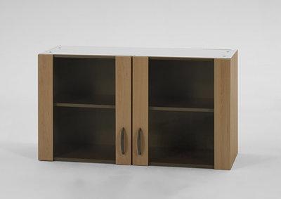 Bovenkast Klassiek 60 Beuken met glas, 100cm x 35 cm Beuken O500-6-OPTI-42