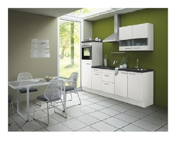 Keuken Lagos Zijdeglans Wit 270cm Opti 126 Kitchenetteonline