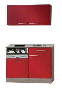 Kitchenette 120cm Rood glans incl al inbouw vaatwasser RAI-2326