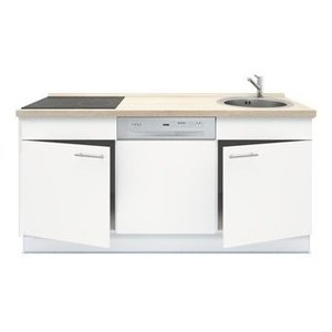 3-in-1 minikeuken + kookplaat + vaatwasser + 180cm RAI-1001