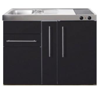 MP 120A zwart mat met apothekers la en koelkast RAI-9517