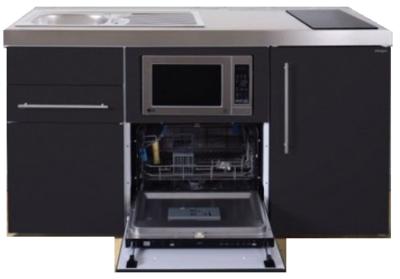 MPGSM 160 Zwart met koelkast, vaatwasser en magnetron  RAI-982