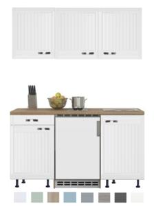 Keukenblok 150 Karat Klassiek incl koelkast en kookplaat en wandkasten RAI-916