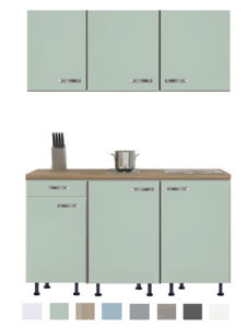 Keukenblok 140 Karat incl kookplaat en wandkasten RAI-925