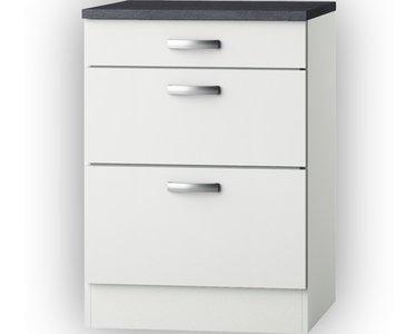 Kabinet wit hoogglans (BxHxD) 60 x 84 x 60,0 cm HRG-5126