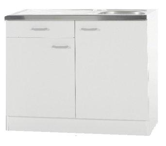 Keukenblok Klassiek 50 + RVS aanrecht 100cm x 50cm met een la OPTI-187