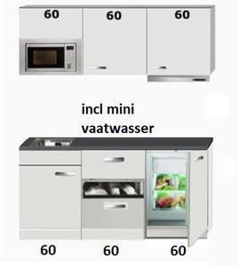 kitchenette 180cm incl mini vaatwasser,combi magnetron en koelkast RAI-444
