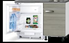 Keuken Kitchenette 120cm Vigo incl inbouw koelkast RAI-2253