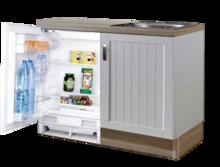 Keuken Design blok 110cm MDF met inbouw koelkast RAI-8192
