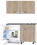 Kitchenette 120cm Padua incl wandkasten en inbouw koelkast RAI-049