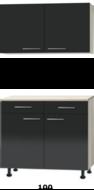 Keuken Buffetkast 100cm met stelpoten RAI-775