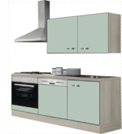 Kitchenette 180 groen zijdeglans incl all apparatuur RAI-053