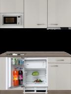 keukenblok 180cm zand kleur met koelkast en combimagnetron RAI-330