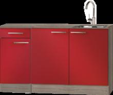 Keuken blok Rood hoogglans 130 cm incl spoelbak RAI-04838