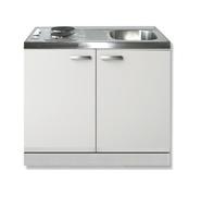 Keuken blok Lagos wit 100cm met twee deuren incl e-kookplaat RAI-1201