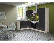 Hoek-keuken-Antraciet-hoogglans-220-x-160-cm-incl.-koelkast-oven-e-kookplaat-en-afzuigkap-RAI-41002
