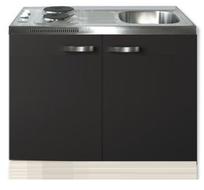 Keuken blok Faro Antraciet 100cm met twee deuren incl e-kookplaat RAI-1205