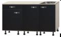 keukenblok-Antraciet-zijdeglans-glans-130-cm-incl-spoelbak-RAI-844