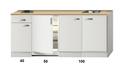 Keukenblok-190cm-wit-hoogglans-incl-2-pit-kookplaat-HRF-4600