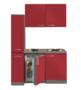 Kitchenette-Rood-130cm-met-koelkast-POTTO-641