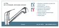 Lage-druk-keukenkraan-ULTRA-ééngreepsmengkraan-keuken-uittrekbare-sproeier-chroom-HRG-335