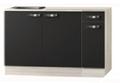keukenblok-Antraciet-130-cm-incl-spoelbak-RAI-04837
