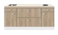 Kitchenette-200cm-Houtnerf-Padua-met-een-ladenkast-RAI-5039