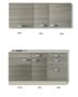 Keukenblok-120cm-vigo-grijz-rood-met-wandkasten-RAI-43922