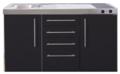 MPS4-150-Zwart-mat-met-koelkast-en-4-ladekasten-RAI-9537