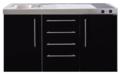 MPS4-150-Zwart-metalic-met-koelkast-en-4-ladekasten-RAI-9538