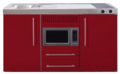 MPM-150-Rood-met-koelkast-en-magnetron-RAI-953