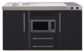 MPM-150-Zwart-mat-met-koelkast-en-magnetron-RAI-956
