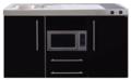 MPM-150-Zwart-metalic-met-koelkast-en-magnetron-RAI-957