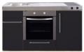 MPB-150-Zwart-mat-met-koelkast-en-oven-RAI-938