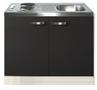Keukenblok-Faro-Antraciet-100cm-met-twee-deuren-incl-e-kookplaat-RAI-1205