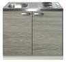 Keukenblok-Grijs-bruin-100cm-met-twee-deuren-incl-e-kookplaat-RAI-1226