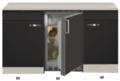 Kitchenette-Faro-Antraciet-140cm-met-koelkast-HRG-123
