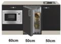 Keukenblok-160-Antraciet-incl-rvs-spoelbak-en-koelkast-en-magnetron-RAI-414