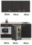 Keukenblok-160-Antraciet-incl-wandkasten-rvs-spoelbak-en-koelkast-en-magnetron-RAI-415