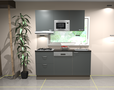 Keukenblok-150-cm-Antraciet-mat-incl-gas-kookplaat-afzuigkap-vaatwasser-en-magnetron-RAI-11028