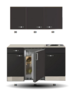 Kitchenette-Faro-Antraciet-130cm-HRG-5384