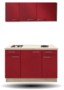 keukenblok-Rood-hoogglans130CM-RAI-5219