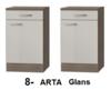 Keukenblok 170cm met inbouw koelkast, kookplaat en afzuigkap RAI-004