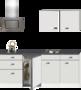 Kitchenette-210cm-Wit-Hoogglans-incl.-2-pit-kookplaat-koelkast-en-afzuigkap-HRF-4602