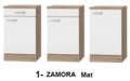 Kitchenette 210cm Wit Hoogglans incl. 2-pit kookplaat, koelkast en afzuigkap HRF-4602
